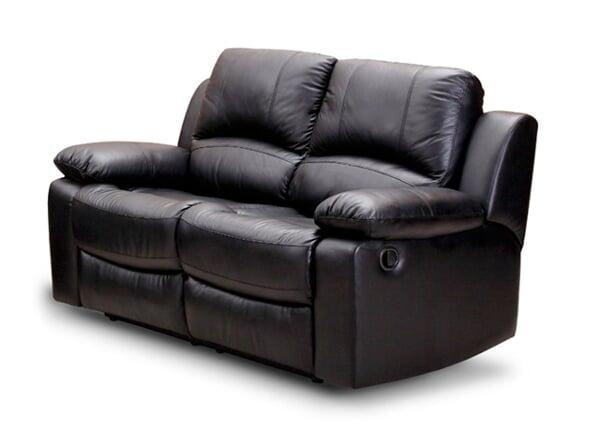 Cassie Faux leather 2 Seater Leather Sofa (Black)